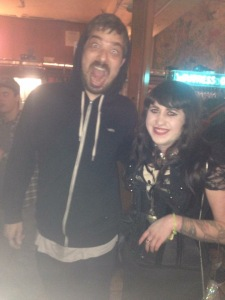 Since I'm talking about going to shows, here's one of me and Aesop Rock from this past January.